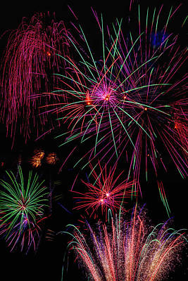 Astonishing Fireworks Art Print