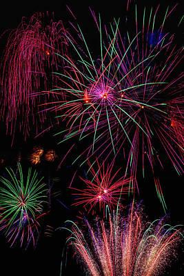 Astonishing Fireworks Art Print