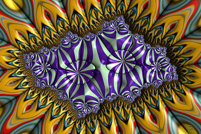 Digital Art - Astonishment - A Fractal Artifact by Manny Lorenzo