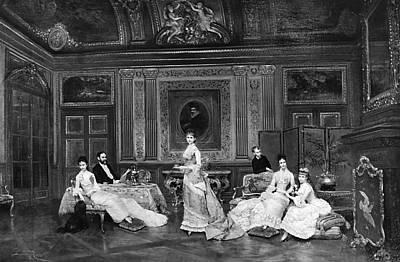Painting - Astor Family 1878 by Granger