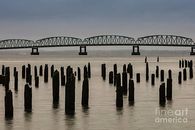 Photograph - Astoria Bridge And Pilings by Patti Schulze