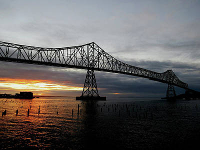 Photograph - Astoria Bridge At Sunset by Jacqueline  DiAnne Wasson