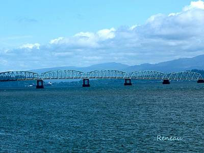 Photograph - Astoria Bridge In Oregon by Sadie Reneau