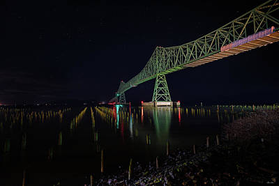 Steele Painting - Astoria Bridge Reflections by Chris Steele