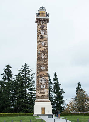 Photograph - Astoria Column by Tom Cochran