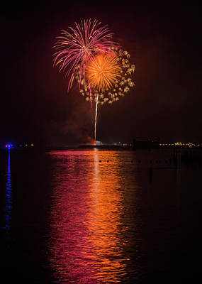 Photograph - Astoria Fireworks by Robert Potts