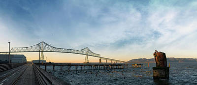 Photograph - Astoria Megler Bridge By Riverwalk Panorama by David Gn