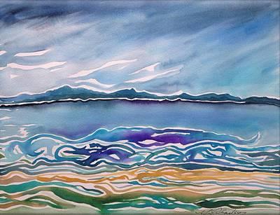 Mystical Landscape Painting - Astoria Oregon Flow by Michael Richardson
