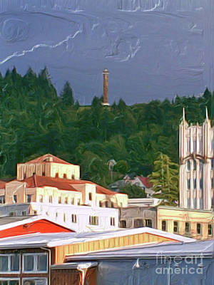 Painting - Astoria Oregon by Methune Hively