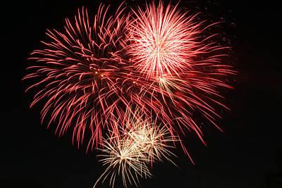 Photograph - Astoria Park Fireworks 10 by Jim Poulos