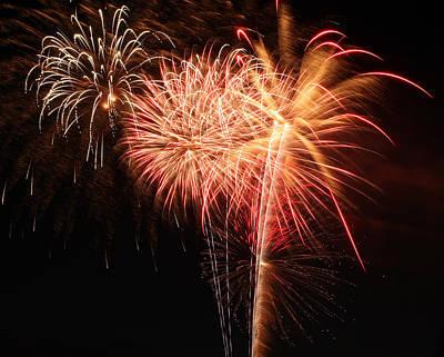 Photograph - Astoria Park Fireworks 11 by Jim Poulos