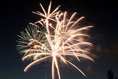 Photograph - Astoria Park Fireworks 2 by Jim Poulos