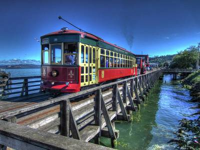 Photograph - Astoria Riverfront Trolley by Thom Zehrfeld