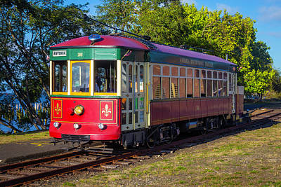 Streetcars Photograph - Astoria Riverfront Trolly by Garry Gay