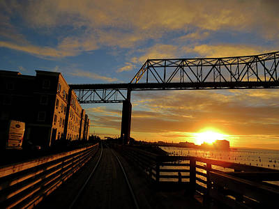 Photograph - Astoria Riverwalk by Jacqueline  DiAnne Wasson