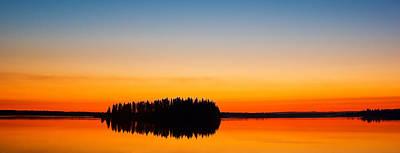 Astotin Sunset Art Print by Ian MacDonald