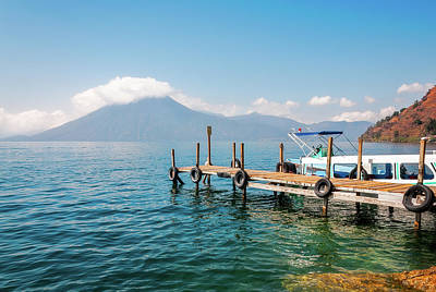 Photograph - Astounding View Of Volcano San Pedro At Lake Atitlan, Guatemala by Daniela Constantinescu