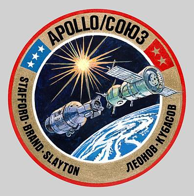 Soviet Union Mixed Media - Astp-apollo Soyuz Test Project by Otis Porritt