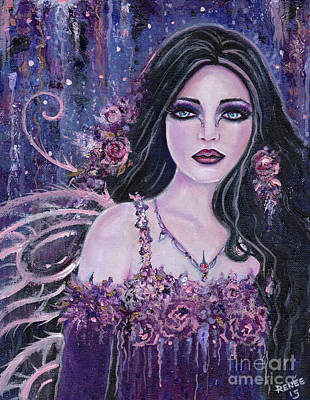 Painting - Astract Rose Fairy by Renee Lavoie