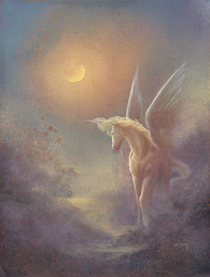 Painting - Astral Pegasus by Jack Shalatain