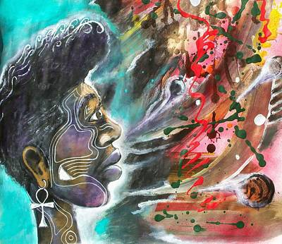 Austin Drawing - Astral Travel by Anthony Welfed Austin