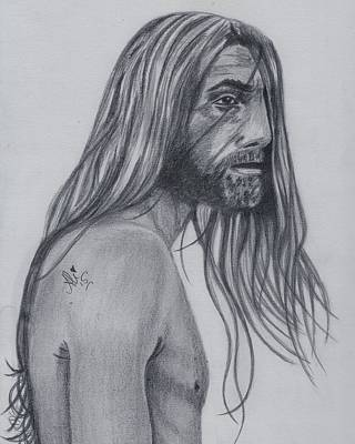Male Nude Drawing Drawing - Astray by Bobby Dar