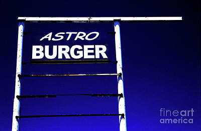 Art Print featuring the photograph Astro Burger by Jim and Emily Bush