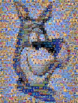 Astros Mixed Media - Astro Jetsons Mosaic by Paul Van Scott