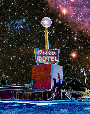 Art Print featuring the photograph Astro Motel by Jim and Emily Bush