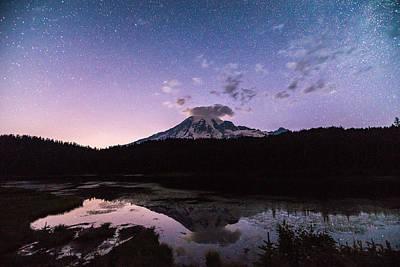 Night Cap Photograph - Astro Mountain by Kristopher Schoenleber