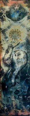 Ahimsa Painting - Astro Wizard  by Silk Alchemy
