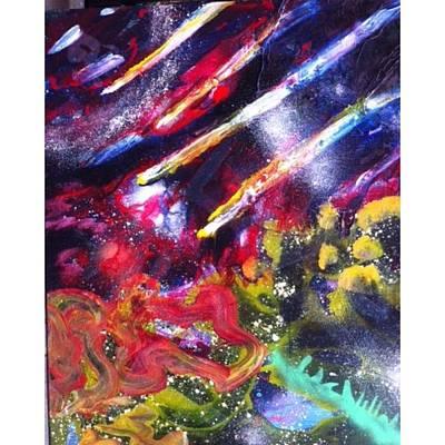 Astrobiology Outer Space Abstract Life In Space Meteors Original by Andrey Bogoslowsky