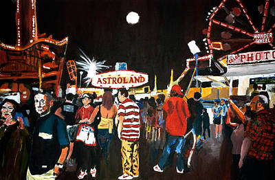 Wall Art - Painting - Astroland by Wayne Pearce