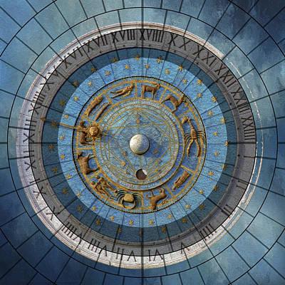 Mixed Media - Astrology Art Deco Grunge Contemporary Art by Georgiana Romanovna
