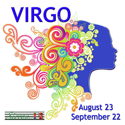 Water Jug Digital Art - Astrology Art Virgo by Sirron Kyles