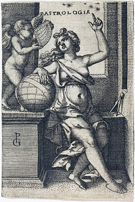 Drawing - Astrology by Georg Pencz