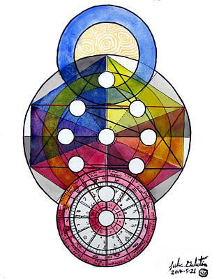 Painting - Astrology Kabbalah Chart by Luke Galutia