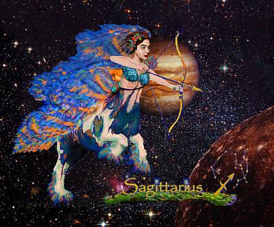Astrology Sagittarius Angel  Art Print by Michele Avanti