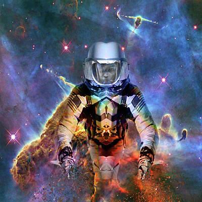 Digital Art - Astronaut Disintegration by Matthew Lacey