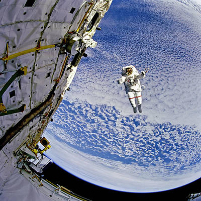 Space Photograph - Astronaut In Atmosphere by Jennifer Rondinelli Reilly - Fine Art Photography