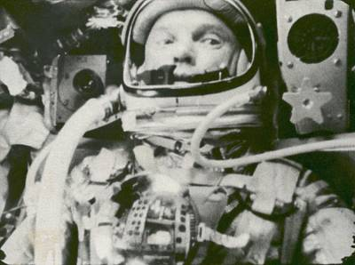 Astronaut John Glenn In Earth Orbit Art Print