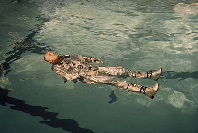 Astronaut Neil Armstrong Floats Print by Nasa