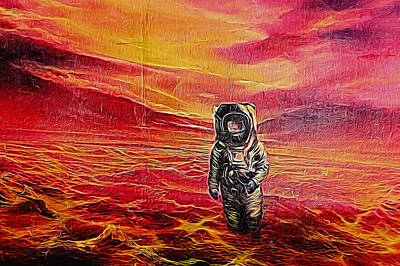 Photograph - Astronaut On An Alien World by John Williams