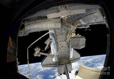 Astronaut Participates In A Spacewalk Art Print by Stocktrek Images