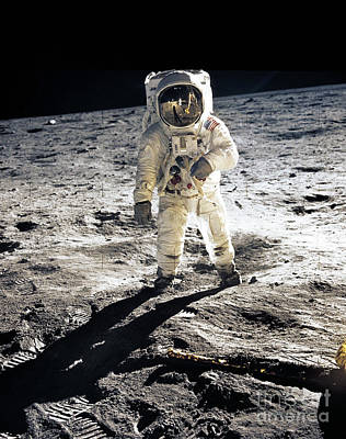 Aldrin Photograph - Astronaut by Photo Researchers