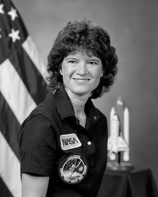 Space Exploration Photograph - Astronaut Sally Ride  by War Is Hell Store