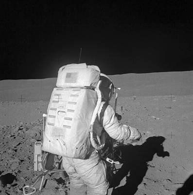 Photograph - Astronaut Walking On The Moon by Stocktrek Images