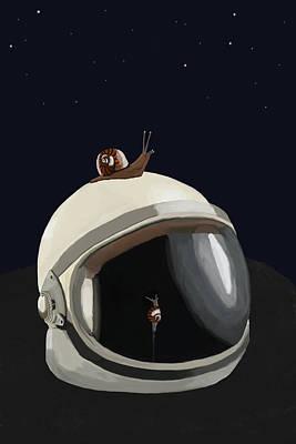 Digital Art - Astronaut's Helmet by Keshava Shukla