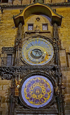 Photograph - Astronomical Clock In Prague by Richard Rosenshein