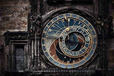 Photograph - Astronomical Clock Closeup by Songquan Deng